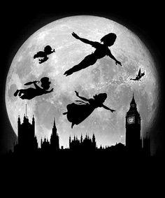 Tattoo Ideas Disney Peter Pan Tinkerbell New Ideas Peter Pan Disney, Peter Pan And Tinkerbell, Disney Pixar, Disney And Dreamworks, Disney Art, Disney Songs, Peter Pan Kunst, Peter Pan Art, Peter Pan Painting