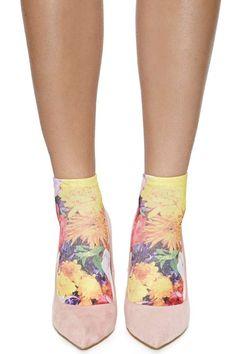Pastel Bloom Ankle Socks - Nasty Gal