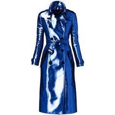 blue trench coat  JEWEL TONE STYLE #UNIQUE_WOMENS_FASHION
