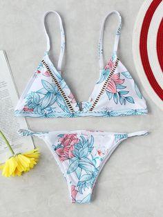 Shop Calico Print Triangle Bikini Set online. SheIn offers Calico Print Triangle Bikini Set & more to fit your fashionable needs.