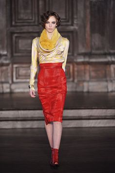 Love the outfit L'Wren Scott opened up with. Love how color is so part of this Fall 2012. It feels hopeful!