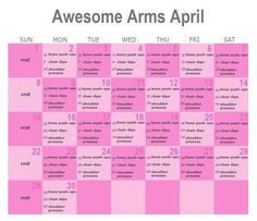 Awesome Arms April