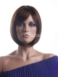 full cap women wigs hot bob wig with bangs short brown wigs for women synthtic hair wigs realistic wigs