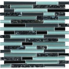 Epoch Architectural Surfaces, Spectrum Blue Pearl-1662 Granite And Glass Blend Mesh Mounted Floor and Wall Tile - 2 in. x 12 in. Tile Sample, BLUE PEARL SAMPLE at The Home Depot - Tablet