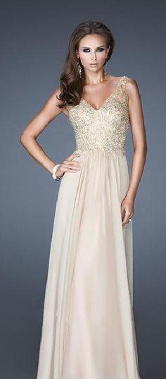 Cute V-neck A-Line Sleeveless Long Evening Dress Sale prom dress prom dresses lkxdresses614588sgtdst #prettydresses #promdress