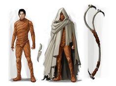 Stillsuit, crysknife, desert robe, maker hooks