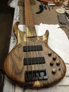 MTD 5 string bass Custom Bass Guitar, Guitar Kits, Guitar Rack, Cool Guitar, Guitar Chord Chart, Guitar Chords, Acoustic Guitar, Gretsch, Badass