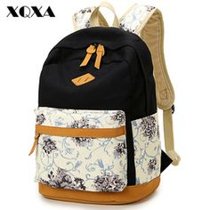 19a8fd1ef51 Cheap backpack school, Buy Quality fashion backpacks school directly from  China woman backpack rucksacks Suppliers  Fashion Brand Quality Floral  Canvas Bag ...