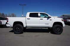 """This 2013 Toyota Tundra is equipped with a 4.5"""" BDS lift"""