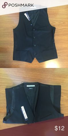 Men's Vest Black Vest for Men.  Brand new with tags.  Slim fit. Paisley & Gray Jackets & Coats Vests