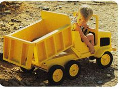 Foot Powered Dump Truck Woodworking Plan