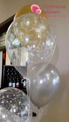 Stunning engagement balloons from www.balloonsleeds.com Engagement Balloons, Wedding Balloons, Balloon Pictures, Celebration Balloons, Wakefield, The Balloon, Leeds, Romantic, Ceiling Lights