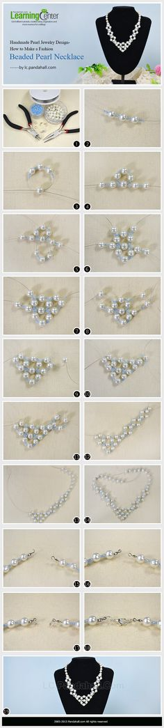 Handmade Pearl Jewelry Design-How to Make a Fashion Beaded Pearl Necklace---vma.