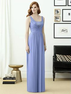 Dessy Collection Style 2962 (shown in PANTONE Serenity)