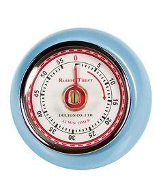 Blue Retro Magnetic Timer #zulily #zulilyfinds