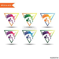 Knight horse_This stunning logo design was created by AMCstudio