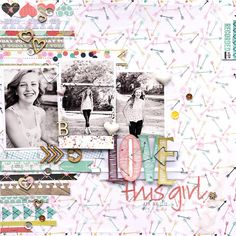 Layout by Guest Designer and Garden Girl, Corrie Jones, working with our NEW Allison Kreft collection, Recorded!