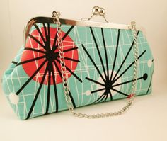 Mod Atomic Clutch by AddyGirlAccessories on Etsy, $35.00