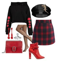 Untitled #5 by pipsavilhelmiina on Polyvore featuring polyvore, fashion, style, Boohoo, Chicwish, Rare London, Valentino, Gucci, Simone Rocha, Yves Saint Laurent and clothing