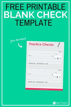 Blank Check Template  Teaching Teens How To Manage Money