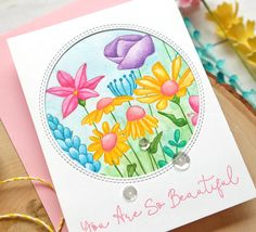 """Living My Dream: """"One Stamp, Five Ways"""" - SSS So Beautiful Crafty Hugs Release Fine Pens, Simon Says Stamp, Pink Peonies, My Stamp, You Are Beautiful, Flower Cards, Card Sizes, Blue Bird, Birthday Cards"""