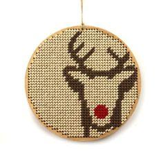 modern Reindeer cross stitch