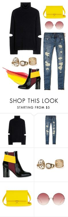 """""""Yellow"""" by elliyxn ❤ liked on Polyvore featuring Public School, Hollister Co., Pollini, PB 0110 and Linda Farrow"""