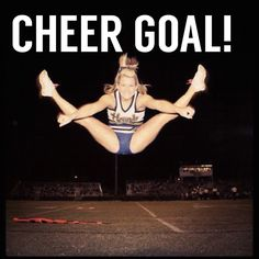 REPIN if a perfect Toe Touch is on your Cheer Goal list! Photo: @madiilouu For tons of tips to help you have an amazing Toe Touch, check out CheerleadingInfoCenter.com