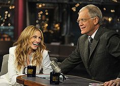 Julia Roberts on David Letterman.