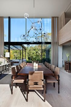Espacio familiar Luxury Dining Room, Dining Room Design, Luxury Living, Dinning Room Tables, Dinner Room, Küchen Design, Contemporary Decor, Kitchen Contemporary, Architectural Digest