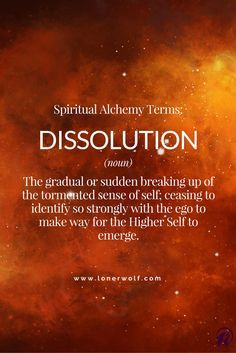 DISSOLUTION: Stage 2 of Spiritual Alchemy yes, okay basically going backward, and this by far explains what actually occurs verbatim. no shit. if another wades thru BS hey, ill take it Spiritual Enlightenment, Spiritual Growth, Spiritual Quotes, Spiritual Awakening Stages, Awakening Quotes, Spiritual Power, Spiritual Healer, Healing Quotes, C G Jung