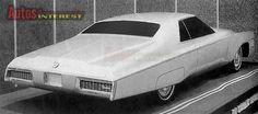 OG | 1971 Cadillac DeVille Two-door Coupé | Design proposal in full-size mock-up