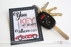 Printables clues for a car treasure hunt.  The perfect birthday surprise for the husband! :)