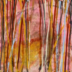 Currently in Kate's office, Mary Farmer. Shinrin Yoku, Boston Art, Forest Bathing, Out Of The Woods, Pink Abstract, Encaustic Painting, Farmer, Contemporary Art, Original Art
