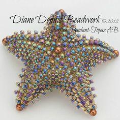 Beadwork Kit, Starfish Pendant in Topaz AB