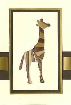 Iris Folded Giraffe Card