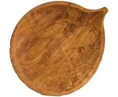 """Блюдце """"Осина"""" - дуб - светло-коричневый, 25х20,5 см"""