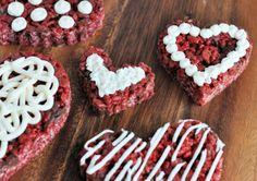 Red Velvet Rice Krispies Treats