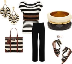 """""""Stripes of a Different Color"""" by pjm27 on Polyvore"""