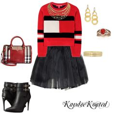 KandeeKoated by kandeegirl on Polyvore featuring polyvore fashion style Tommy Hilfiger Olympia Le-Tan Burberry Cartier Gurhan LE VIAN Liz Claiborne