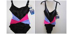 Vintage Swimsuit Womens Swimwear Size 14 Bathing Suit One