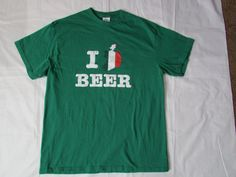 131206 I heart Beer T Shirt / I Ireland Beer T by CajunRabbit