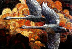 Geese in flight Mosaic