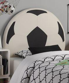 Upholstered Soccer Ball Headboard