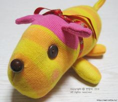 игрушки из носков. собачка (3) (700x606, 215Kb)
