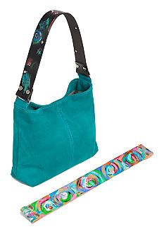 Katie Kalsi Suede Sadie Interchangeable Strap Shoulder Bag