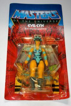 ORIGINAL VINTAGE 1982 MASTERS OF THE UNIVERSE EVIL-LYN MOTU MOC he-man heman NEW