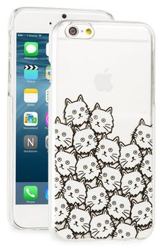 Adoring this transparent case that shows off the iPhone's style while feline graphics add a fun, quirky element.