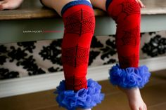 Customizable Spiderman Super Hero Royal Blue Leg Warmers Ruffled Tutu Tights Leggings Chiffon Leggins Little Girl 6 mos. Superhero Kids, Superhero Birthday Party, Baby Birthday, Spider Girl Costume, Spiderman Costume, Halloween Kids, Halloween Party, Halloween Costumes, Spiderman Girl