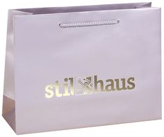 luxury paper bags with hot stamping logo from www.paperbagsshop.com